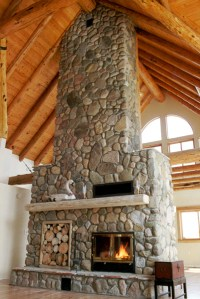 Indoor Outdoor Wood Burning See Through Fireplaces