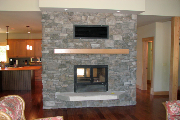 DoubleSided Wood Fireplace  SeeThrough Wood Fireplaces by Acucraft