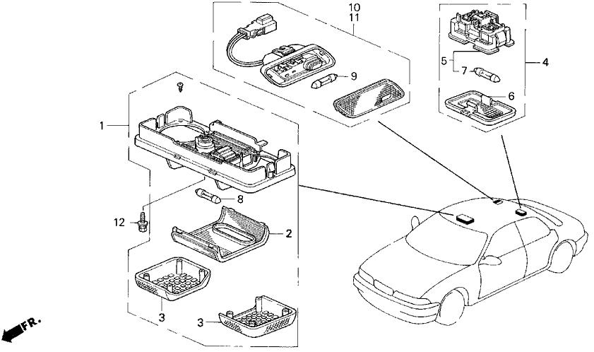 1994 Acura Vigor 4 Door LS KL 5MT Interior Light