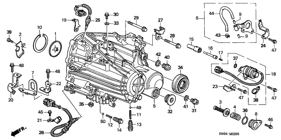 2004 Acura NSX 2 Door NSX-T KA 6MT MT Transmission Case