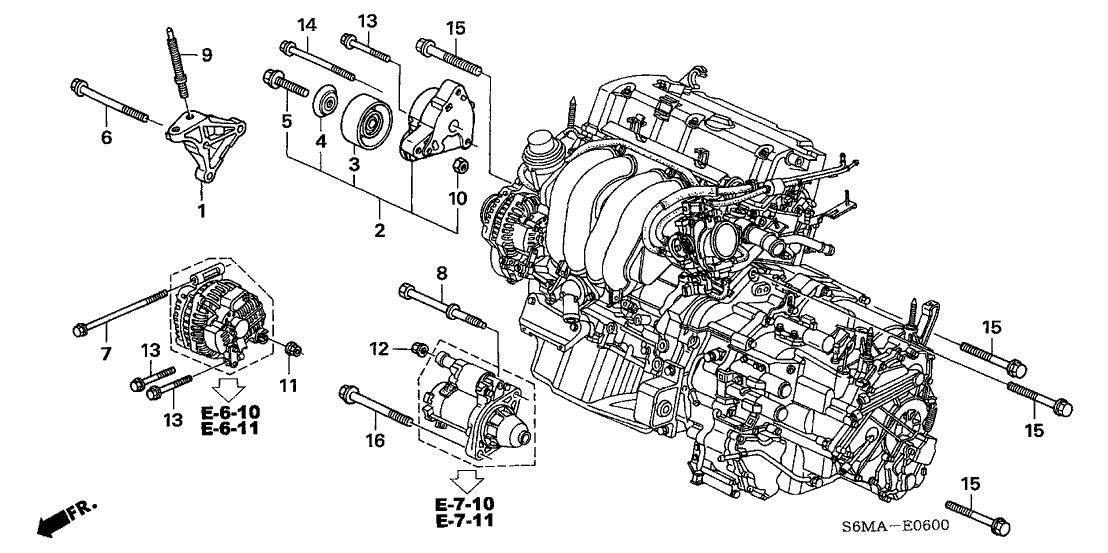 2006 Acura RSX 3 Door TYPE-S KA 6MT Engine Mounting Bracket