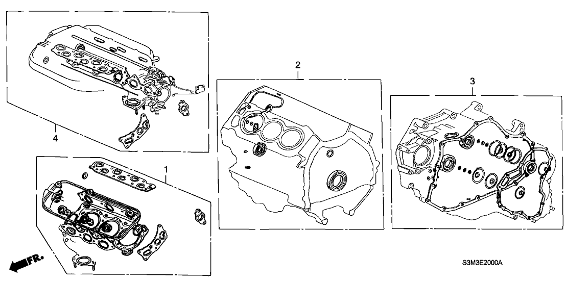 2003 Acura CL 2 Door SPORT KA 5AT Gasket Kit