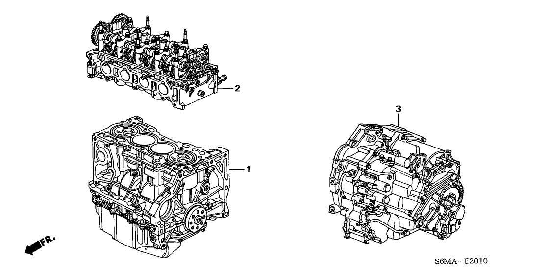 2006 Acura RSX 3 Door TYPE-S KA 6MT Engine Assy