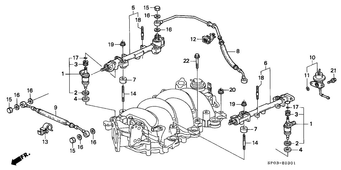 1992 Acura Legend 4 Door LS KA 4AT Fuel Injector