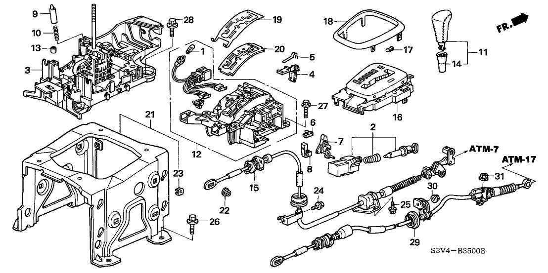 2003 Acura MDX 5 Door PREM KA 5AT Select Lever