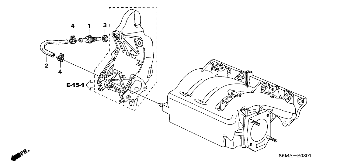 2006 Acura RSX 3 Door TYPE-S KA 6MT PCV Tube