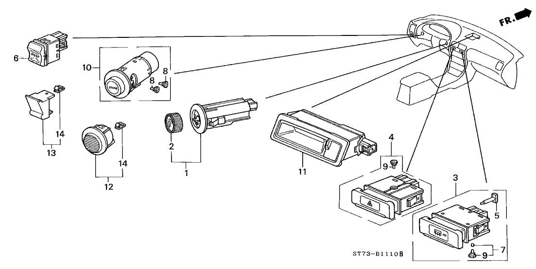 1994 Acura Integra 3 Door LS KA 5MT Switch