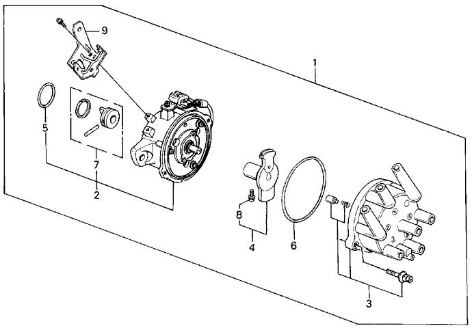 1989 Acura Legend 4 Door ST KA 4AT Distributor (TEC)