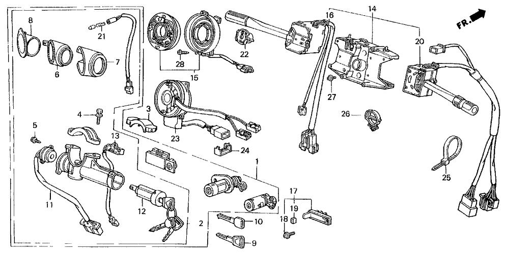 1989 Acura Legend 2 Door STD KL 5MT Combination Switch