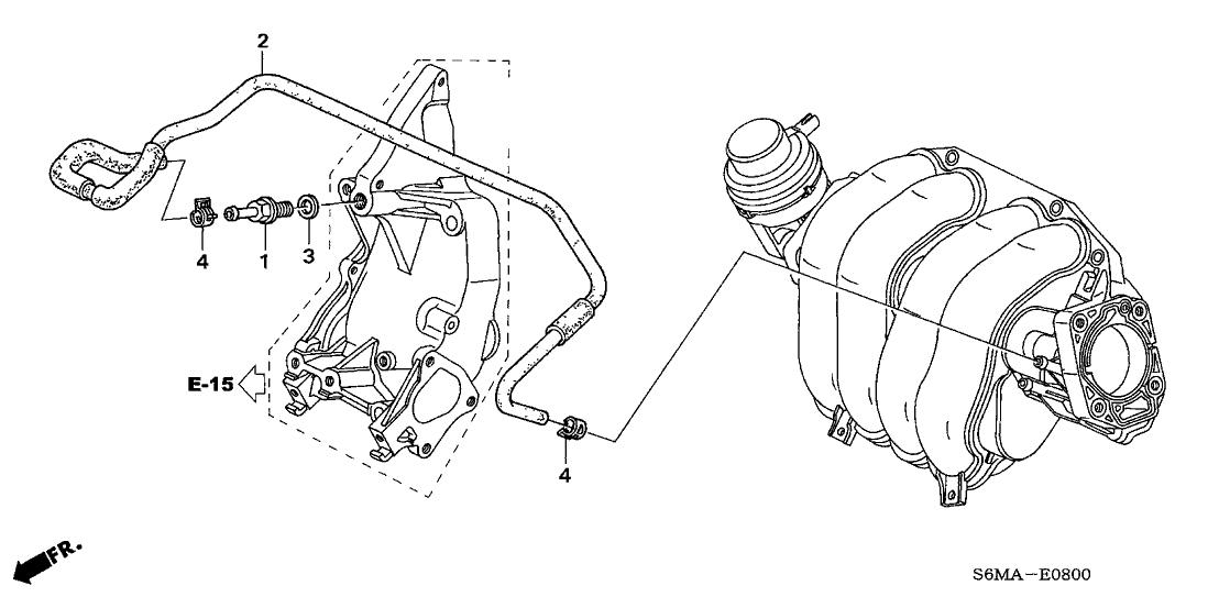 2006 Acura RSX 3 Door BASE (LEATHER) KA 5MT PCV Tube