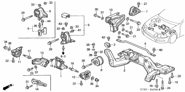 96 Acura Integra Engine Diagram : 1996 Acura Integra 4
