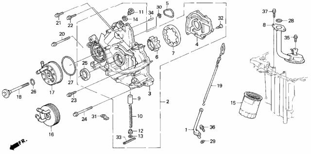 15500-PY6-003 Genuine Acura Cooler, Engine Oil (Denso)