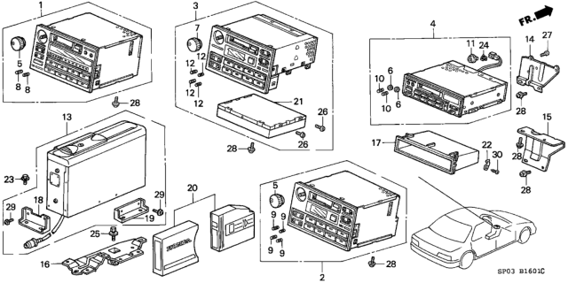39101-SP0-A32 Genuine Acura Part