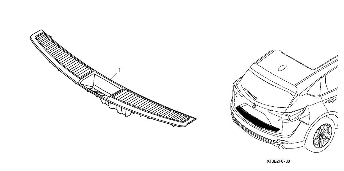 2019 Acura RDX 5 Door TECH KA XAT Rear Panel Protector