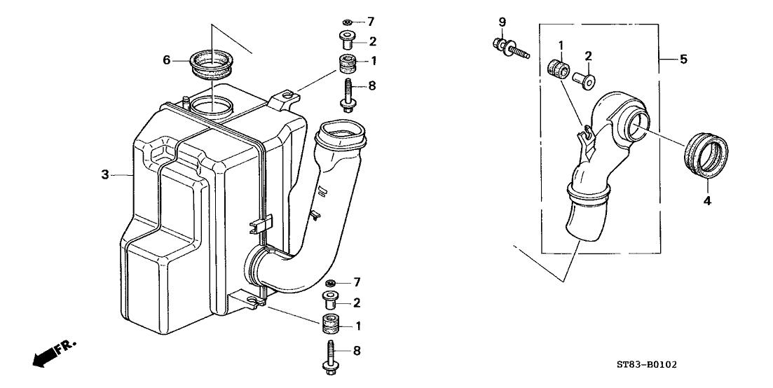 1997 Acura Integra 4 Door GS (LEATHER) KA 5MT Resonator