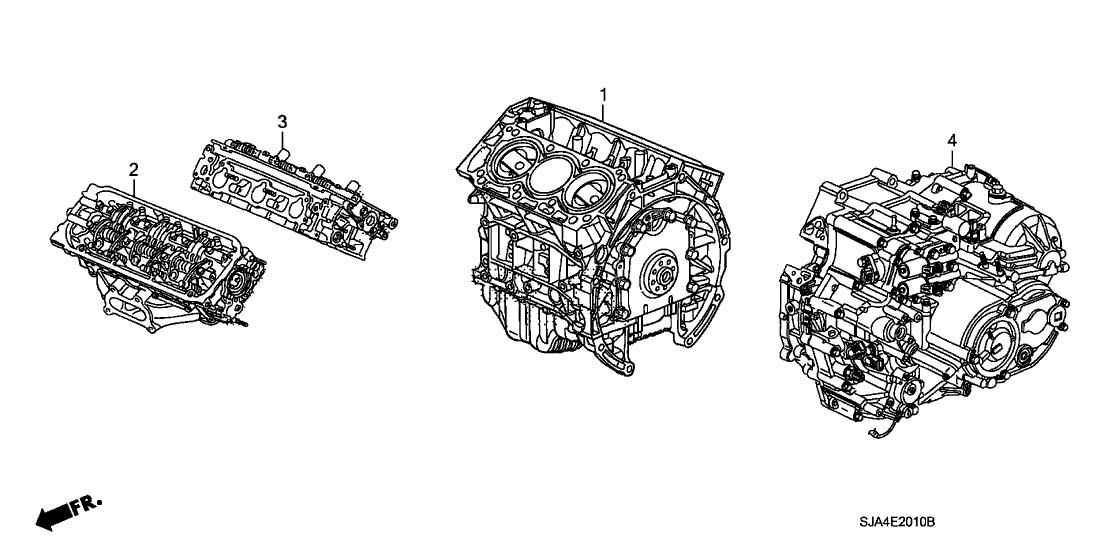 2009 Acura RL 4 Door RL-TEC KA 5AT Engine Assy
