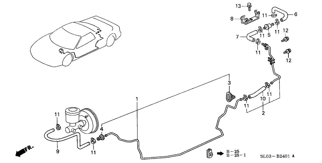 1994 Acura NSX 2 Door NSX KA 5MT Master Power Pipe
