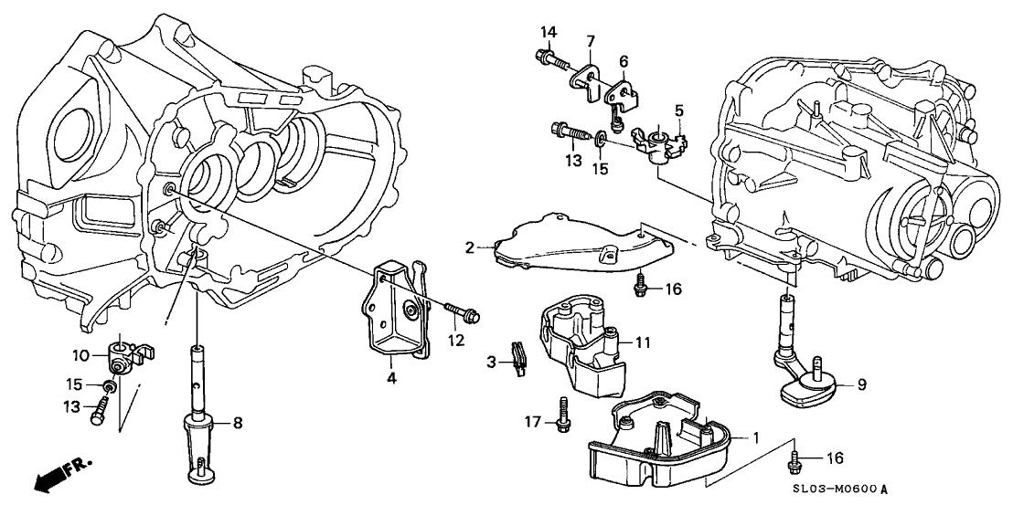 1994 Acura NSX 2 Door NSX KA 5MT 5MT Shift Lever
