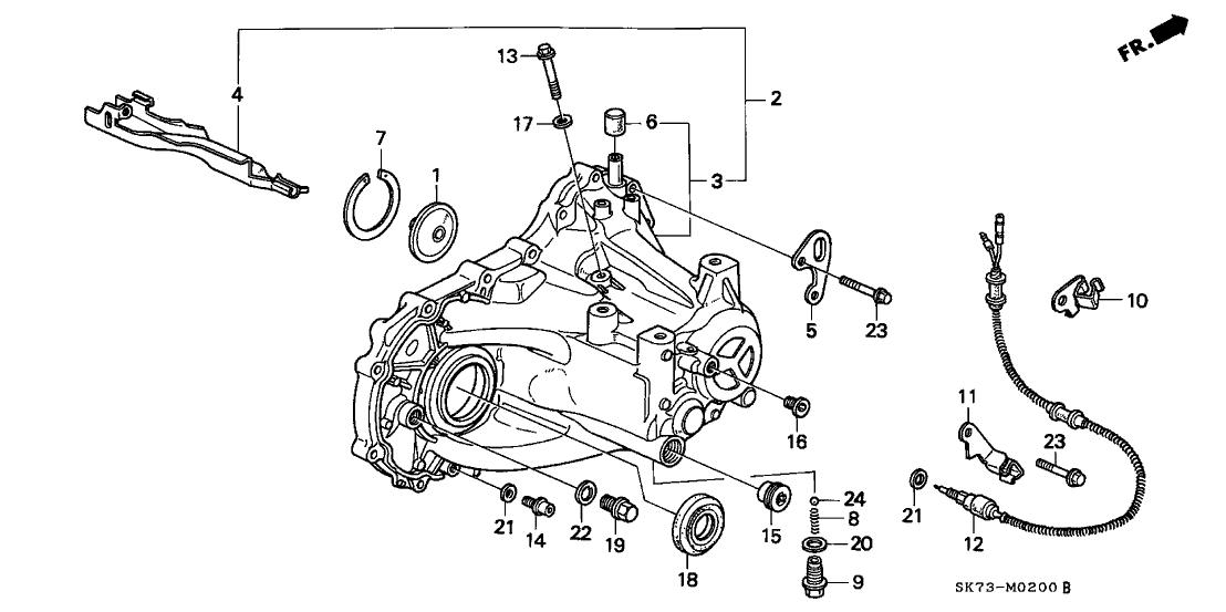 1992 Acura Integra 3 Door GS-R KA 5MT MT Transmission Housing