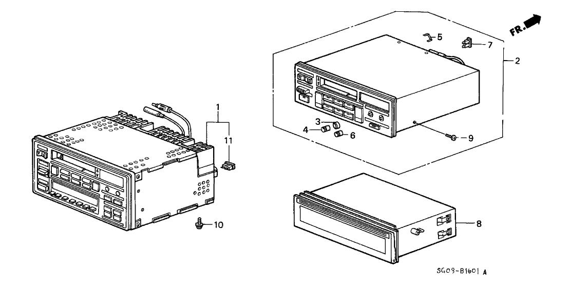 1990 Acura Legend 2 Door LS KA 4AT Radio Tuner