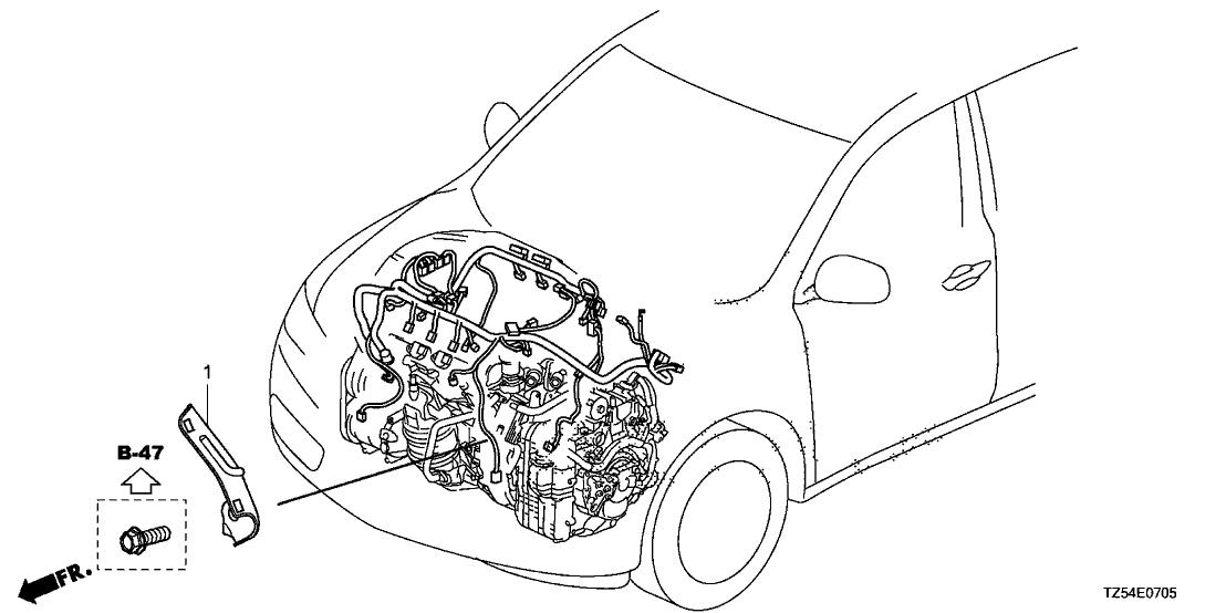 2018 Acura MDX 5 Door ADV (SH-AWD) KA 9AT Engine Wire