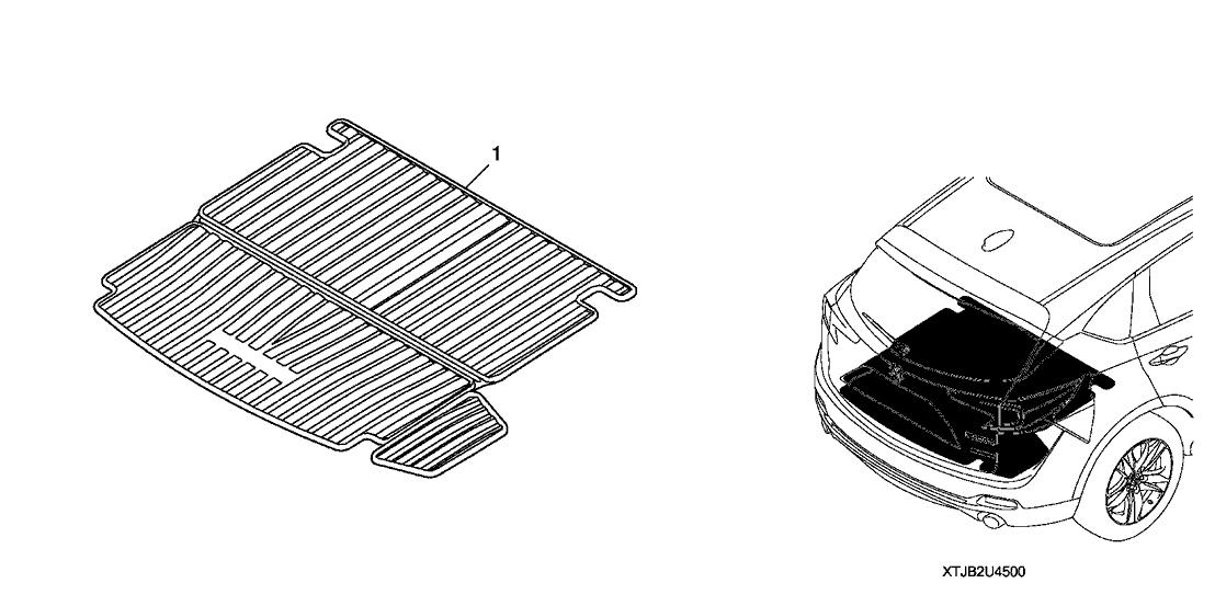 2019 Acura RDX 5 Door ASPEC (SH-AWD) KA XAT Cargo Tray