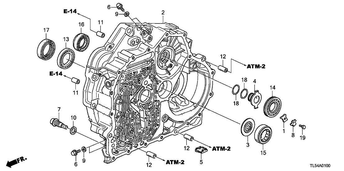2011 Acura TSX 5 Door TSX KA 5AT AT Torque Converter Case