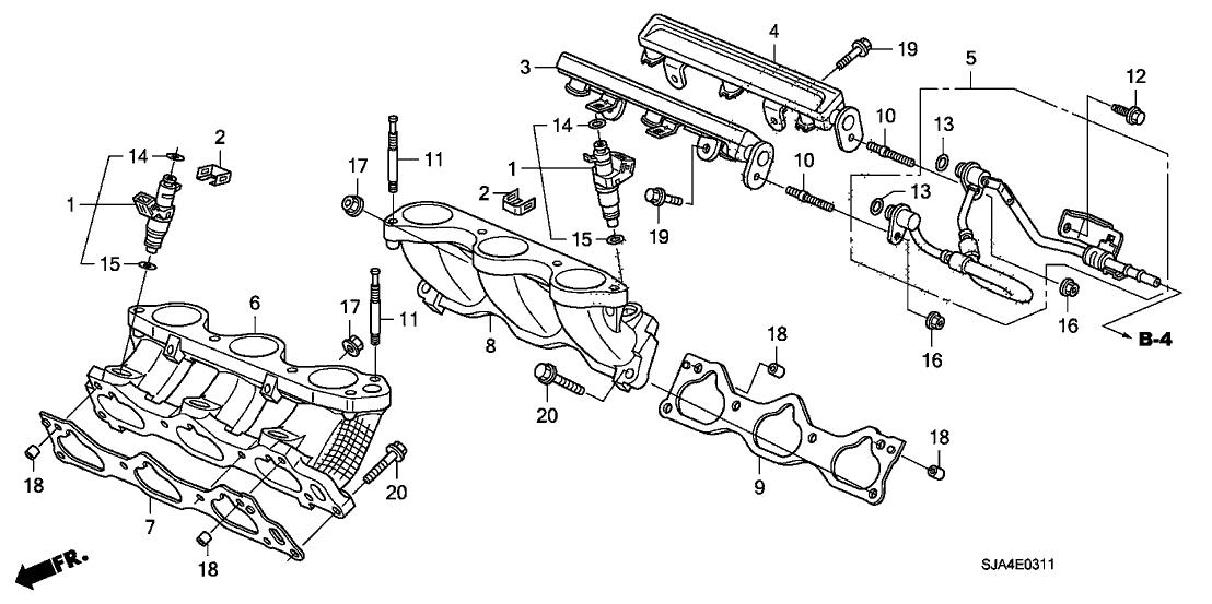 2009 Acura RL 4 Door RL-TEC KA 5AT Fuel Injector