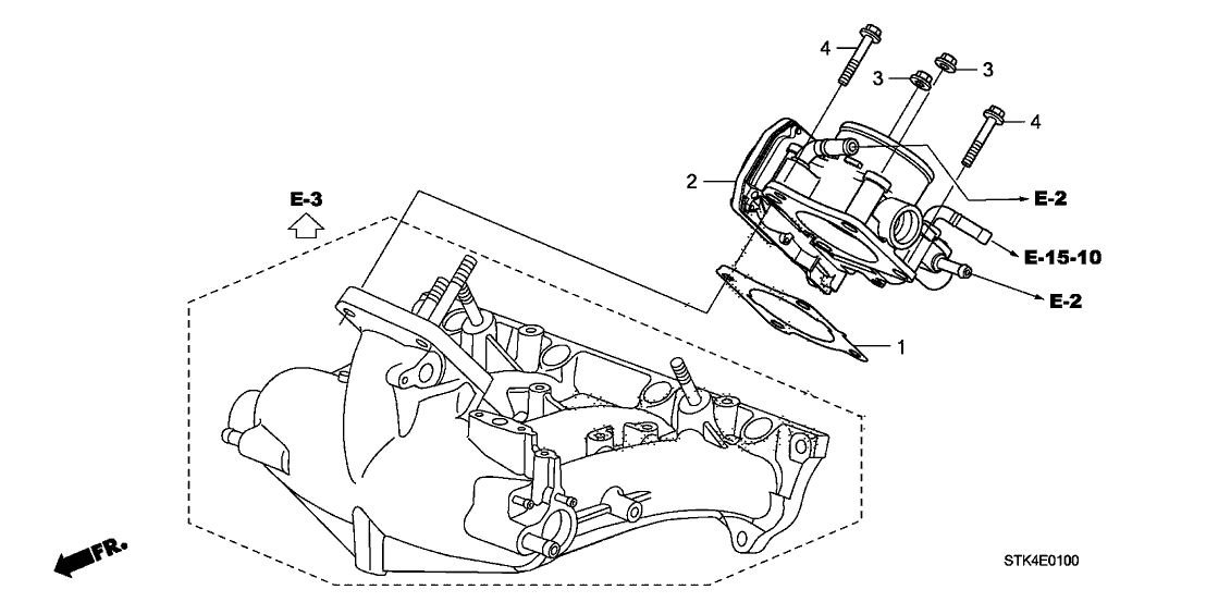2010 Acura RDX 5 Door RDX (SH-AWD) KA 5AT Throttle Body