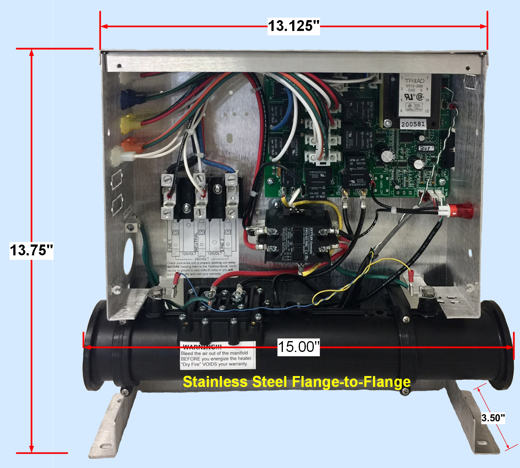 hight resolution of replacement dimension one spas heater for 19 95 free freight mfgreplacement dimension one spas heater for