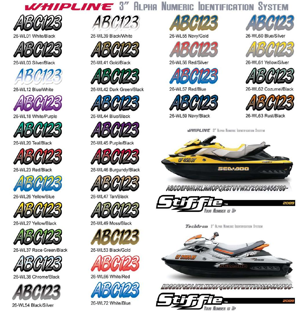 hight resolution of stiffie whipline boat jet ski 3 registration numbers