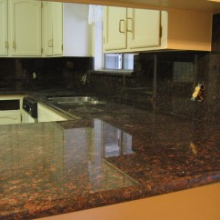 Pictures Of Granite Kitchen Countertops And Backsplashes Nook Table Tan Brown Countertop