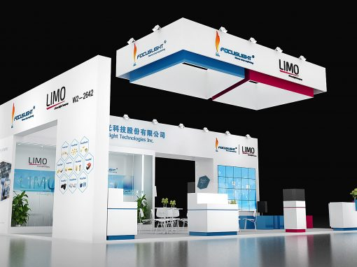 LIMO Messe Laser Photonics China Messestand 2018 2 web 510x382 - Messe-Design