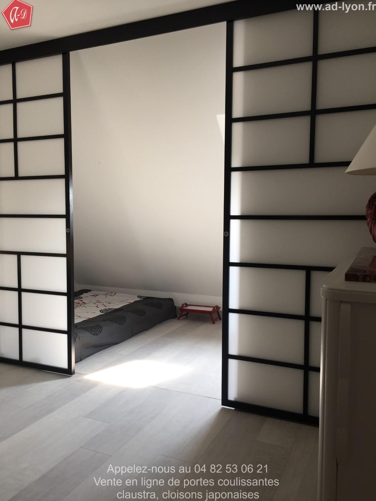 Cloison Japonaise Et Porte Coulissante Sur Mesure Sangatsu