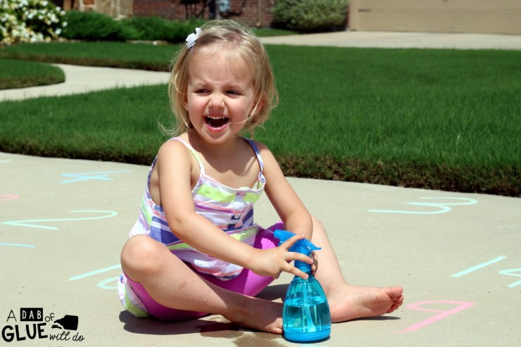 Kids Alphabet Say And Spray Activity is a super fun and easy idea for helping kids to recognize their ABC's while having fun with a say and spray game!