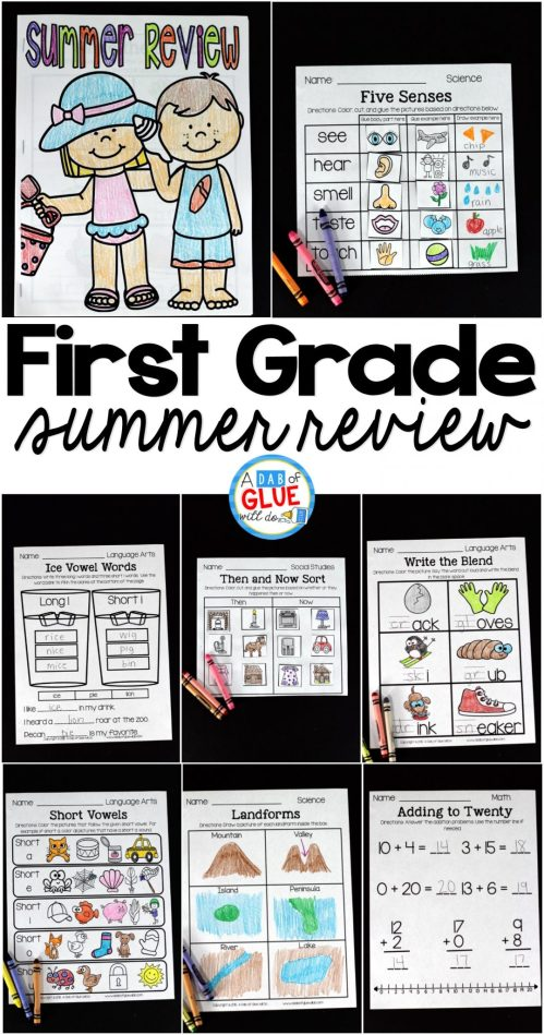 small resolution of First Grade Summer Review -