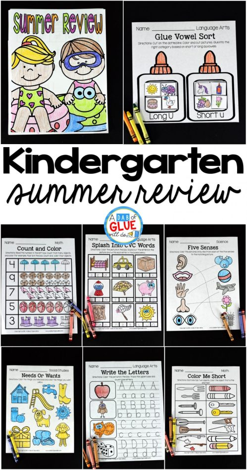small resolution of No Prep Kindergarten Summer Review Packet -