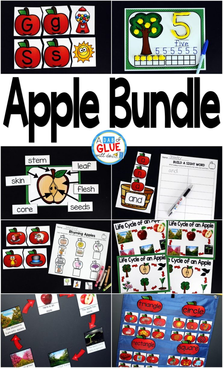 Engage your class in an exciting hands-on experience learning more about the apple! This pack is perfect for science, language arts, and math centers in Kindergarten, First Grade, and Second Grade classrooms and packed full of inviting student activities. Celebrate Fall with apple themed center student worksheets. Students will learn more about apples using puzzles, worksheets, clip cards, and subtraction mats. This pack is great for homeschoolers, hands-on kids activities, and to add to your unit studies! Teachers will receive the complete unit for Autumn apple science, math, and literacy activities to help teach about apples to your lower elementary students!