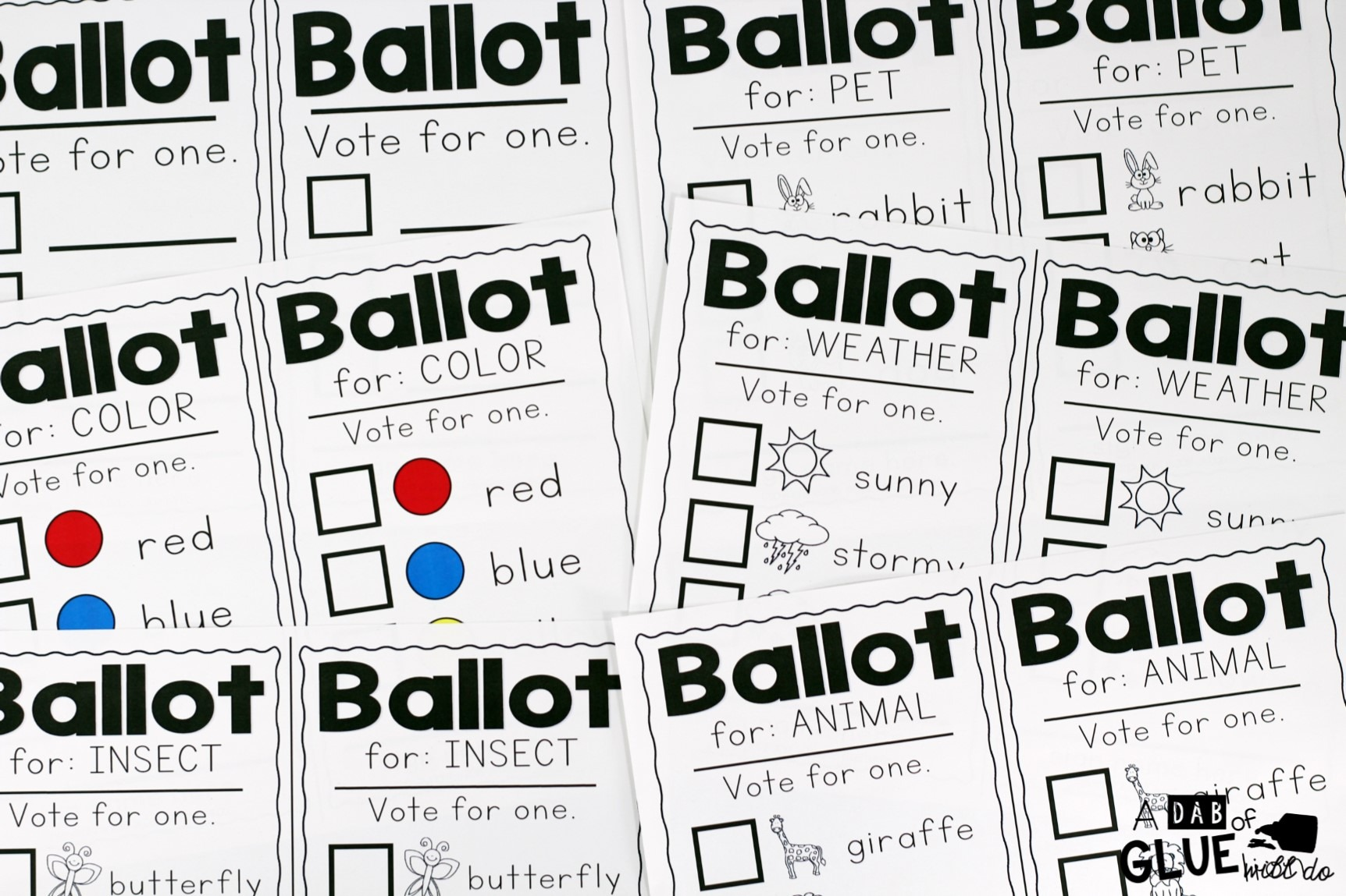 hight resolution of A Mock Election for Little Learners -