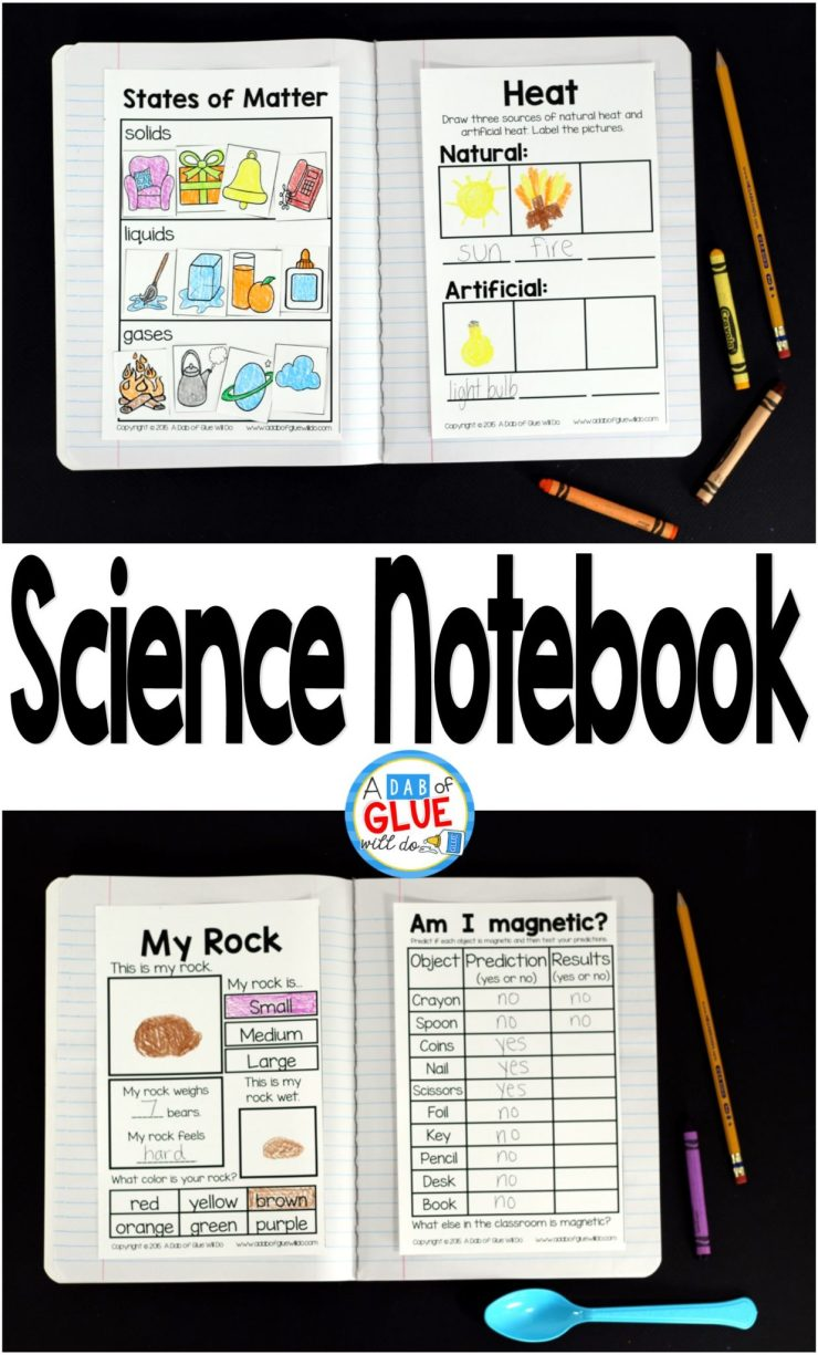 Science Notebook on Science Matter Worksheets For First Grade