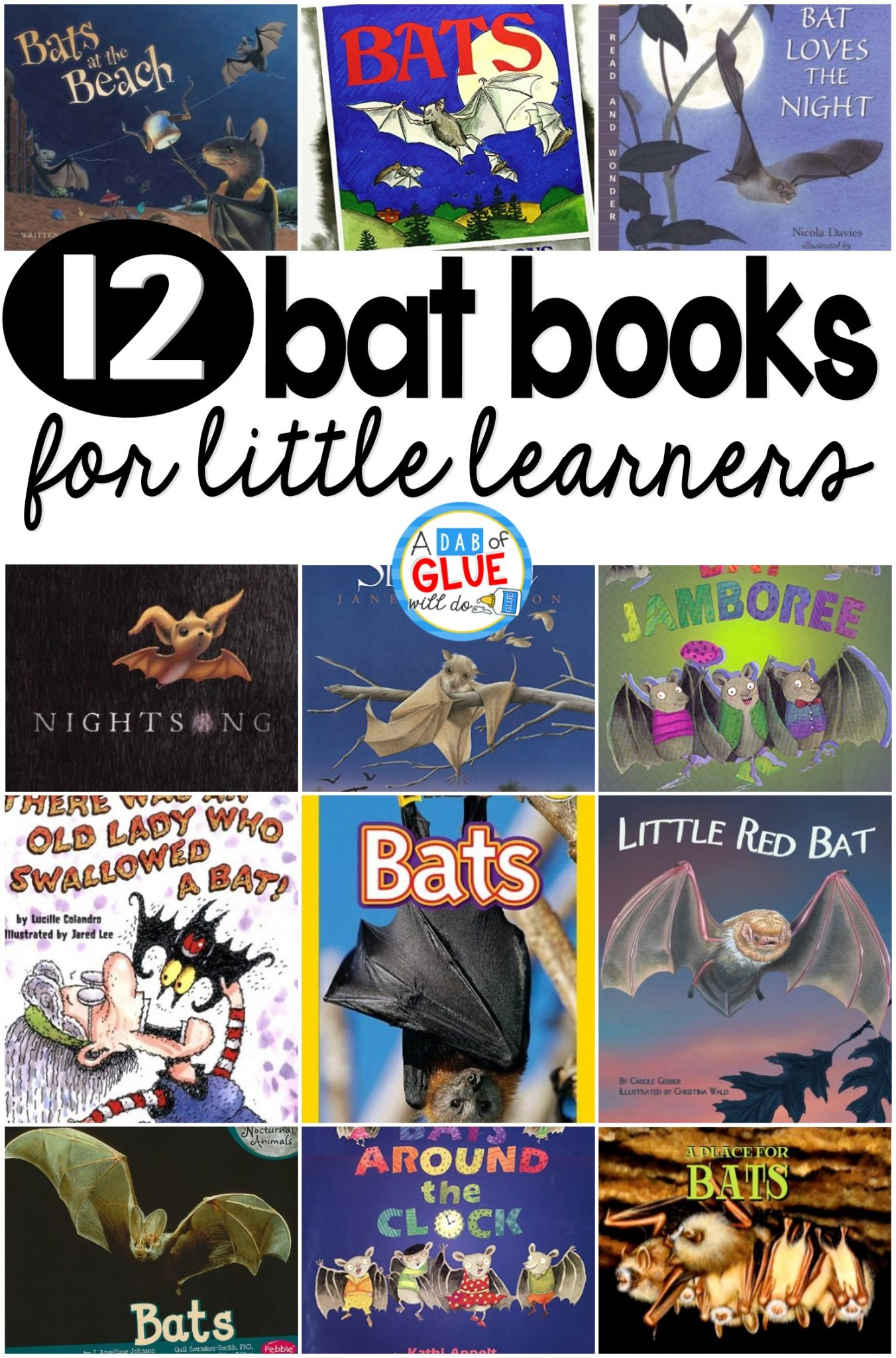 12 Bat Books For Little Learners