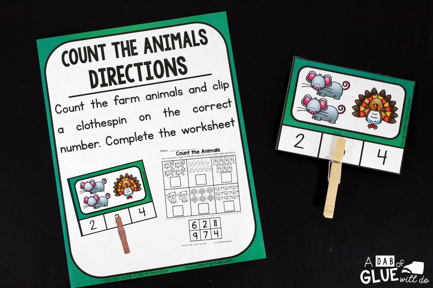 Farm Literacy And Math Centers