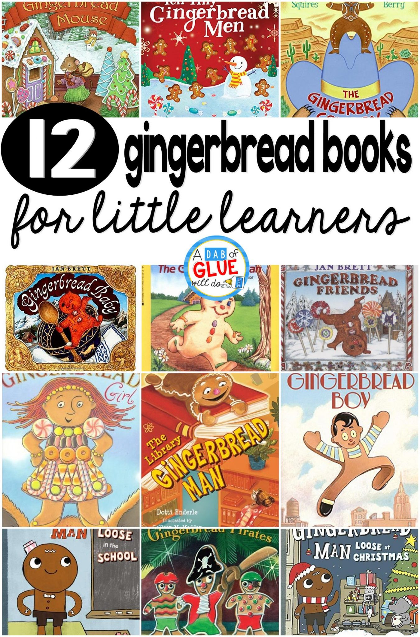 12 Gingerbread Books For Little Learners
