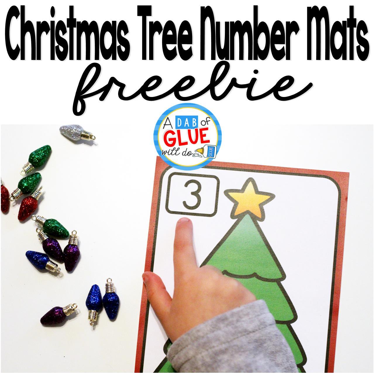 Christmas Tree Number Printable Math Manipulatives