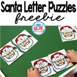 Santa Letter Puzzles is the perfect hands-on addition to literacy centers this Christmas and holiday season. This free printable is perfect for preschool and kindergarten students.