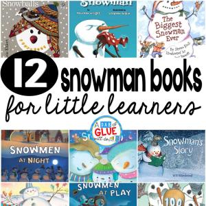 12 Snowman Books for Little Learners