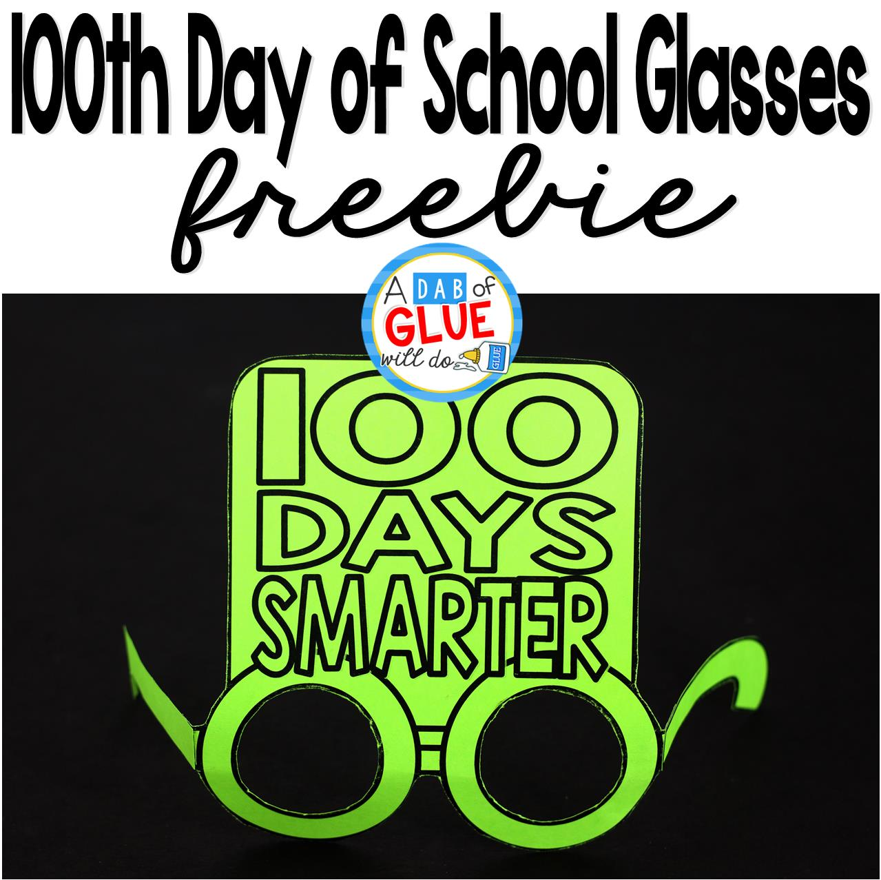 100th Day Glasses Printable Template