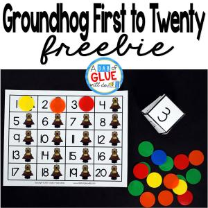 Groundhog First to Twenty Math Game