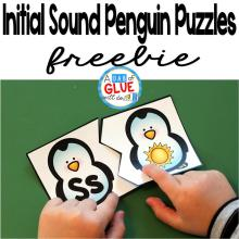 Initial Sound Penguin Puzzles