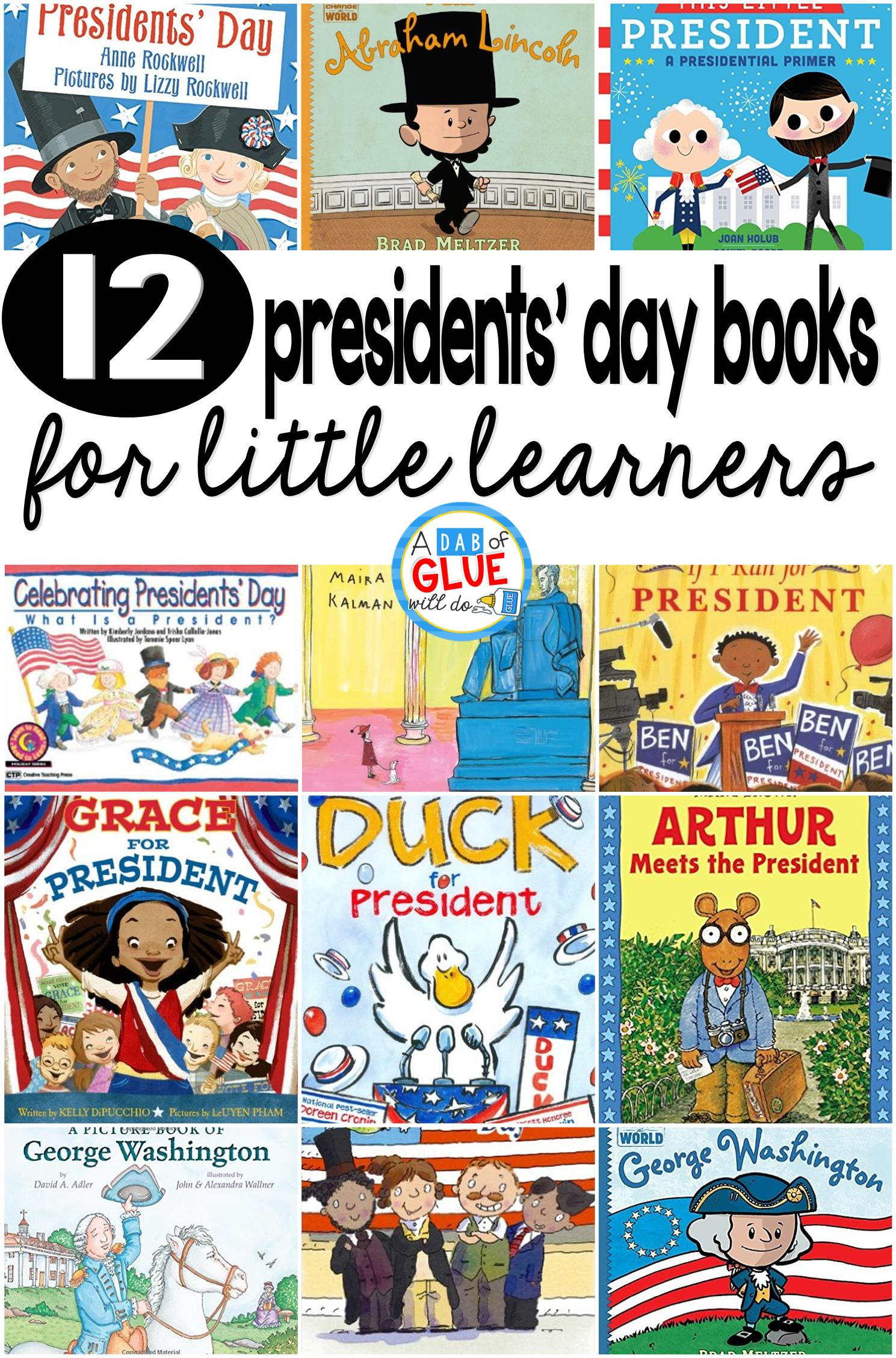 hight resolution of 12 Presidents' Day Books for Little Learners -